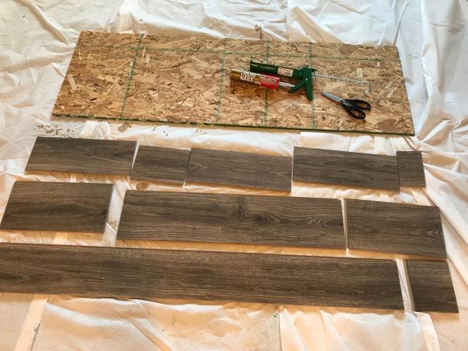 Diy Headboard From Laminate Flooring